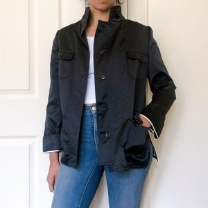 NWOT DOLCE and GABBANA  black silk jacket 4 JT